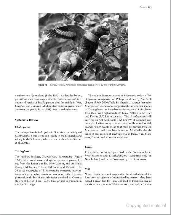 Extinction & Biogeography of Tropical Pacific Birds