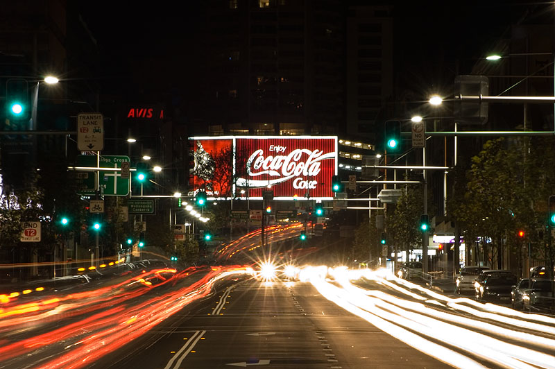 Coke Sign - On: click for previous image