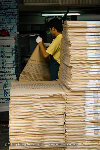 Reams – a worker in a paper factory in Phra Nakorn