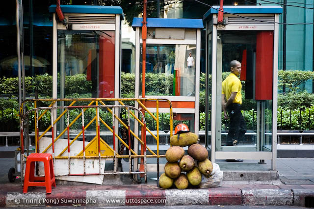 Jackfruit Pyramid – with a helmet on top on Silom Road