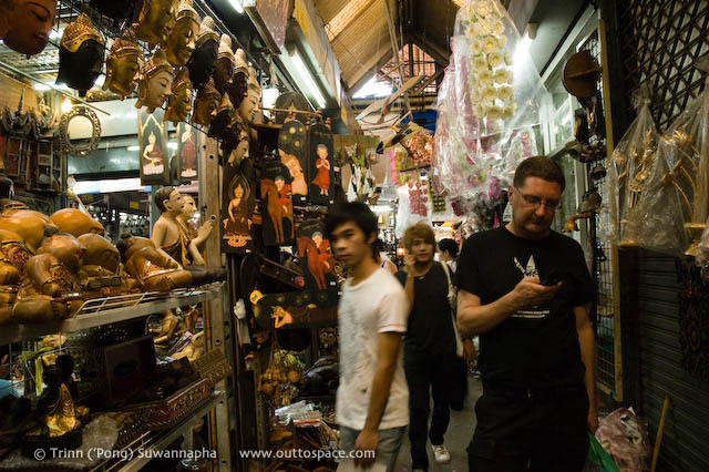 Communication to the world in Chatuchak Weekend Market