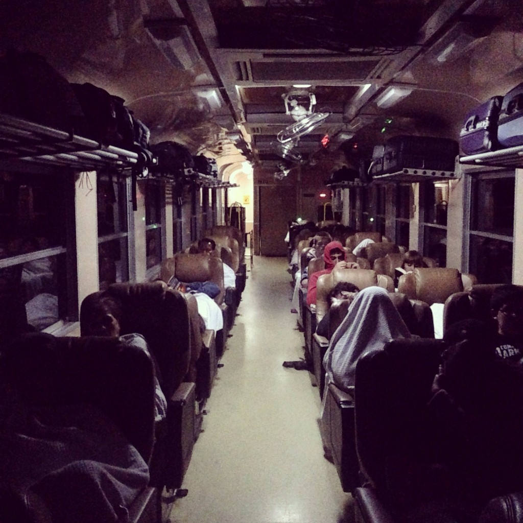 Night train from Phitsanulok to Chiang Mai