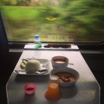 Dinner on the train.