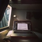 Writing on the night train.