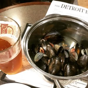Mussels with local beer