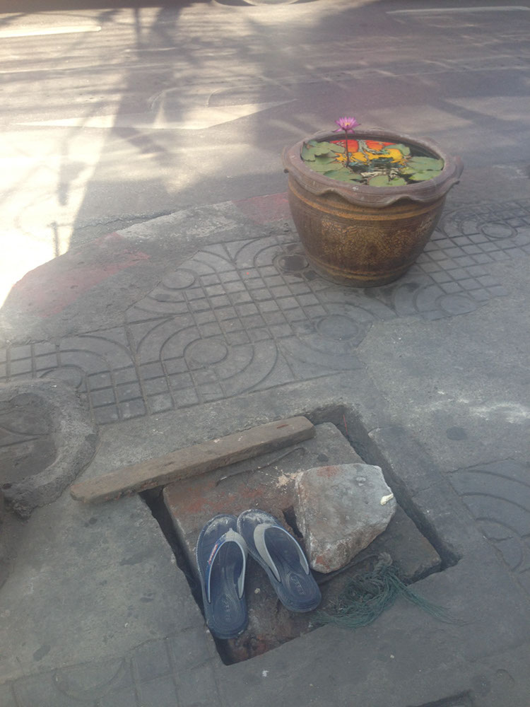 Invisible on a manhole