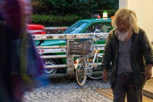 Homeless and his bike