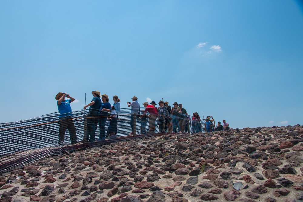 On top of Pyramid of the Sun