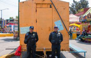 Posing police