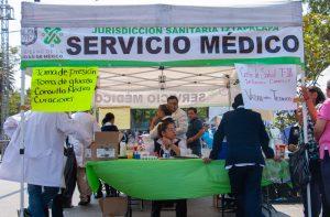 Medical service tent