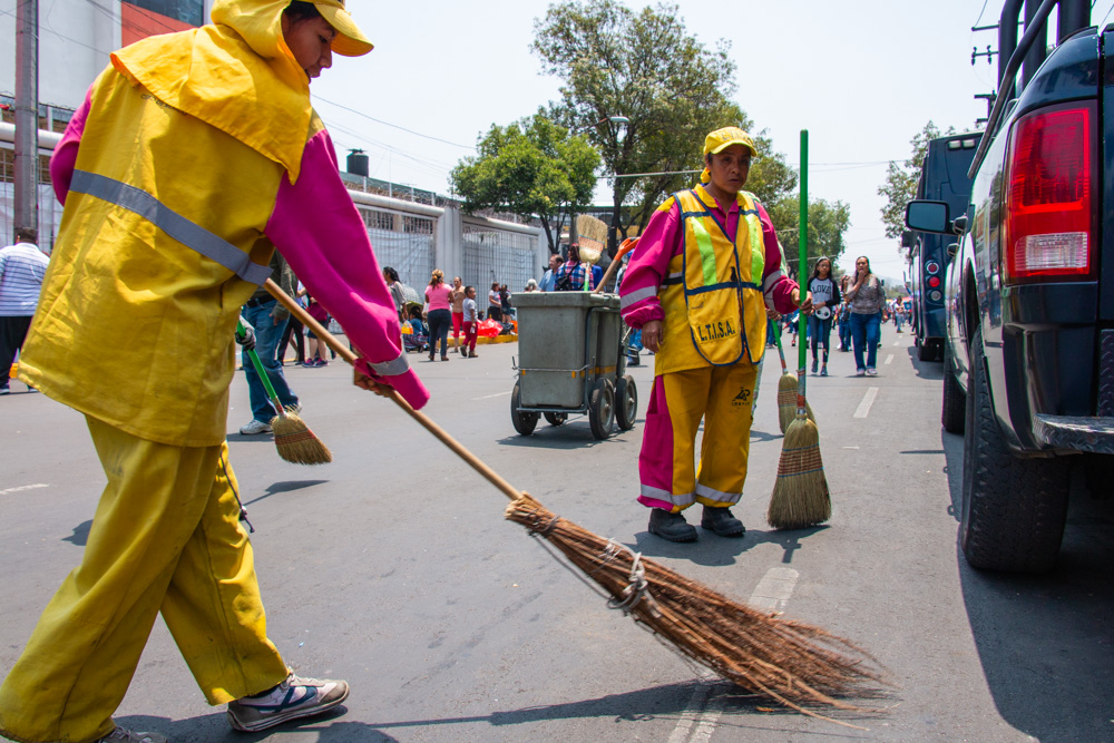 Sweeping the street