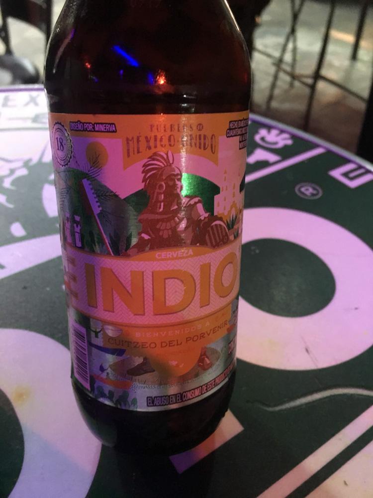 Indio Beer label 3